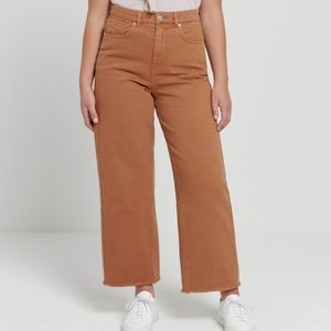 Oak+Fort Nina Good Cotton Jean in Rusted Brown